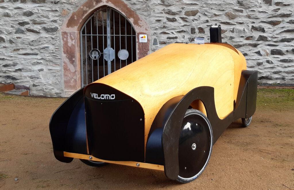 foto of Velomo roadster velomobile on the Quadvelo chassis