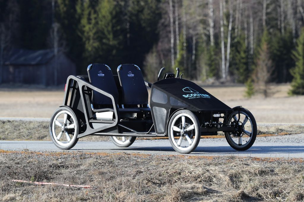 foto of Scouter - sociable velomobile tandem for two with cargo space