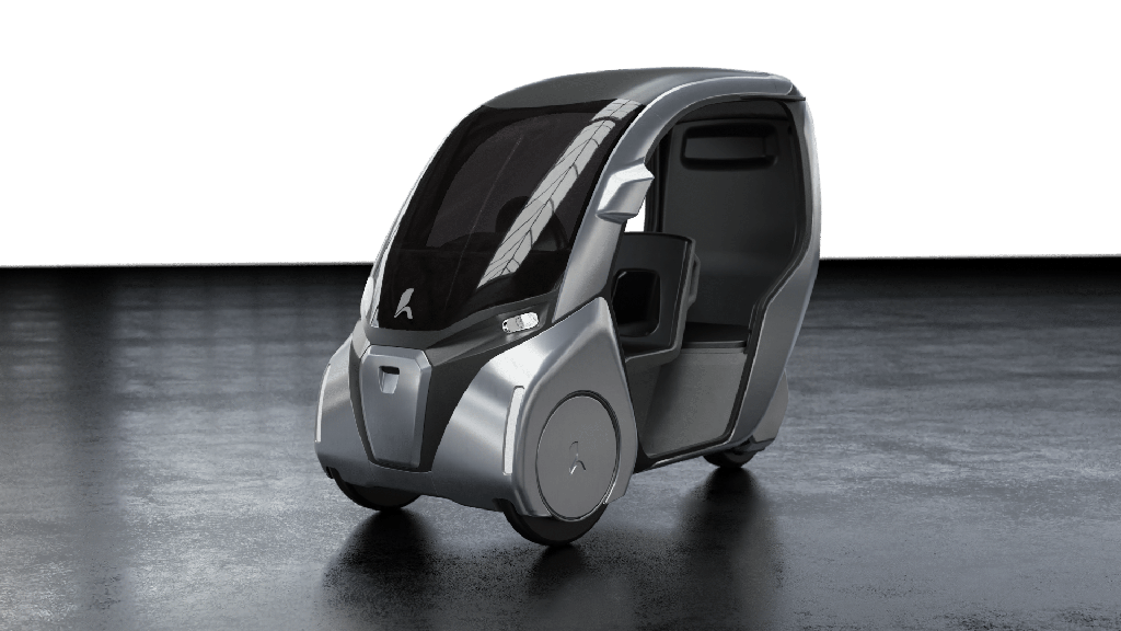 Hopper Mobility velocar velomobile electric vehicle e-bike with weather protection and passenger seat
