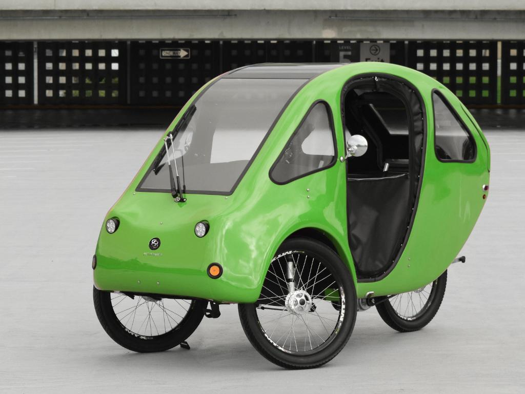 Pebl by better.bike - velocar velomobile micro car ebike tricycle trike USA LEV light electric vehicle weather protection - passenger seat